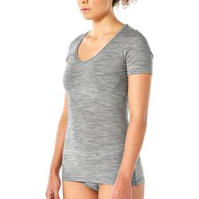 Icebreaker Siren Camiseta Top Manga Corta Mujer, gris